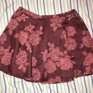 Abercrombie Rose A-line skirt